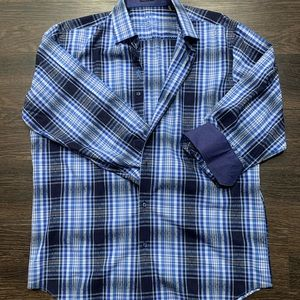 Men's Bugatchi Dress Shirt with contrasting cuffs